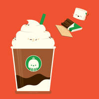 S'mores Frappe! by RoseyCheekes