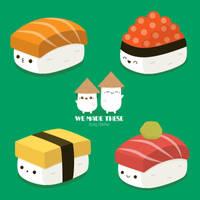 Sushi Time! by RoseyCheekes