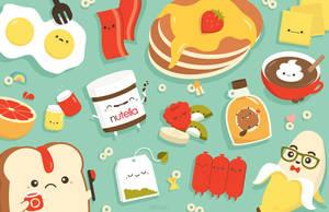 Breakfast Food by RoseyCheekes