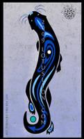 Blue Otter by Naryu