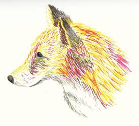 Marker Fox by pinkiesheepie