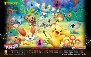 2014 June Poke-Calendar by sparkschu0172