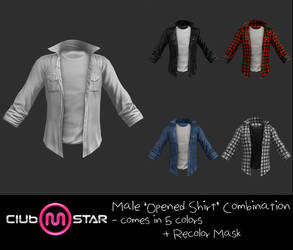 MStar Male Opened Shirt by xCrofty