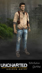 Uncharted: Golden Abyss: Nathan Drake by xCrofty