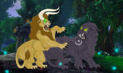 Druid Kitty Battle by BumbleButt98