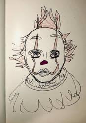 The clown that hasn't got eyebrows ...not by dracoenator