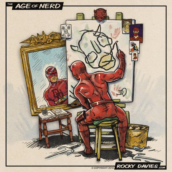 Daredevil Triple Portrait by RockyDavies