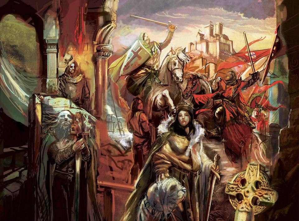 Pendragon RPG cover, WIP (saxons) by Yogh-Art