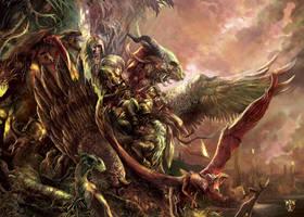 Dragons, artorder challenge/itart making of by Yogh-Art
