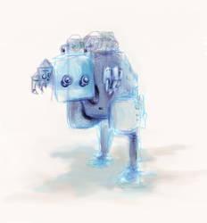 robot sketch by o3dipusr3x