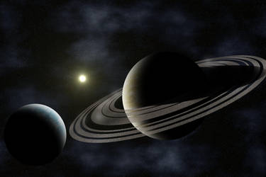 Space Scene by dafackrell