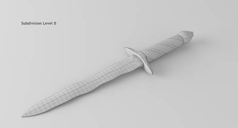 Damascus Steel Flamberg Dagger 13 No Subsurf by rudm