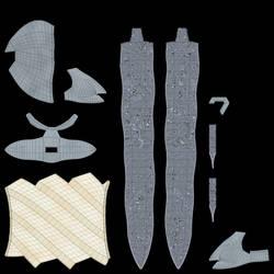 Damascus Steel Flamberg Dagger 15 Diffuse by rudm