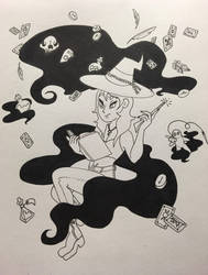 Inktober 4: Spell by ScreamingLullabies