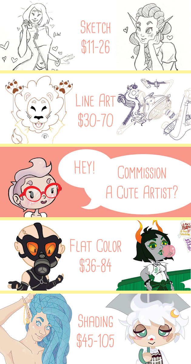 Commission Pricing Updated 12-5-18 by ScreamingLullabies