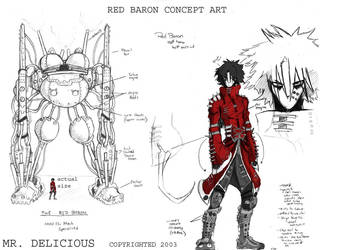 my concept art for Red Baron by Mr-Delicious