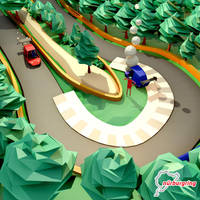 Low Poly Scene : Nurburgring Close Up by kautsar211086
