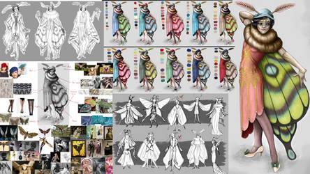 Moth Lady by Snowbowl