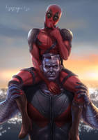 deadpool and steelman is true love by hongagany
