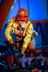 Mechanic at work by RachAsakawa
