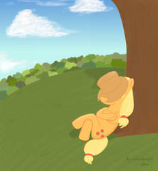 Nap under the tree by unkindangel