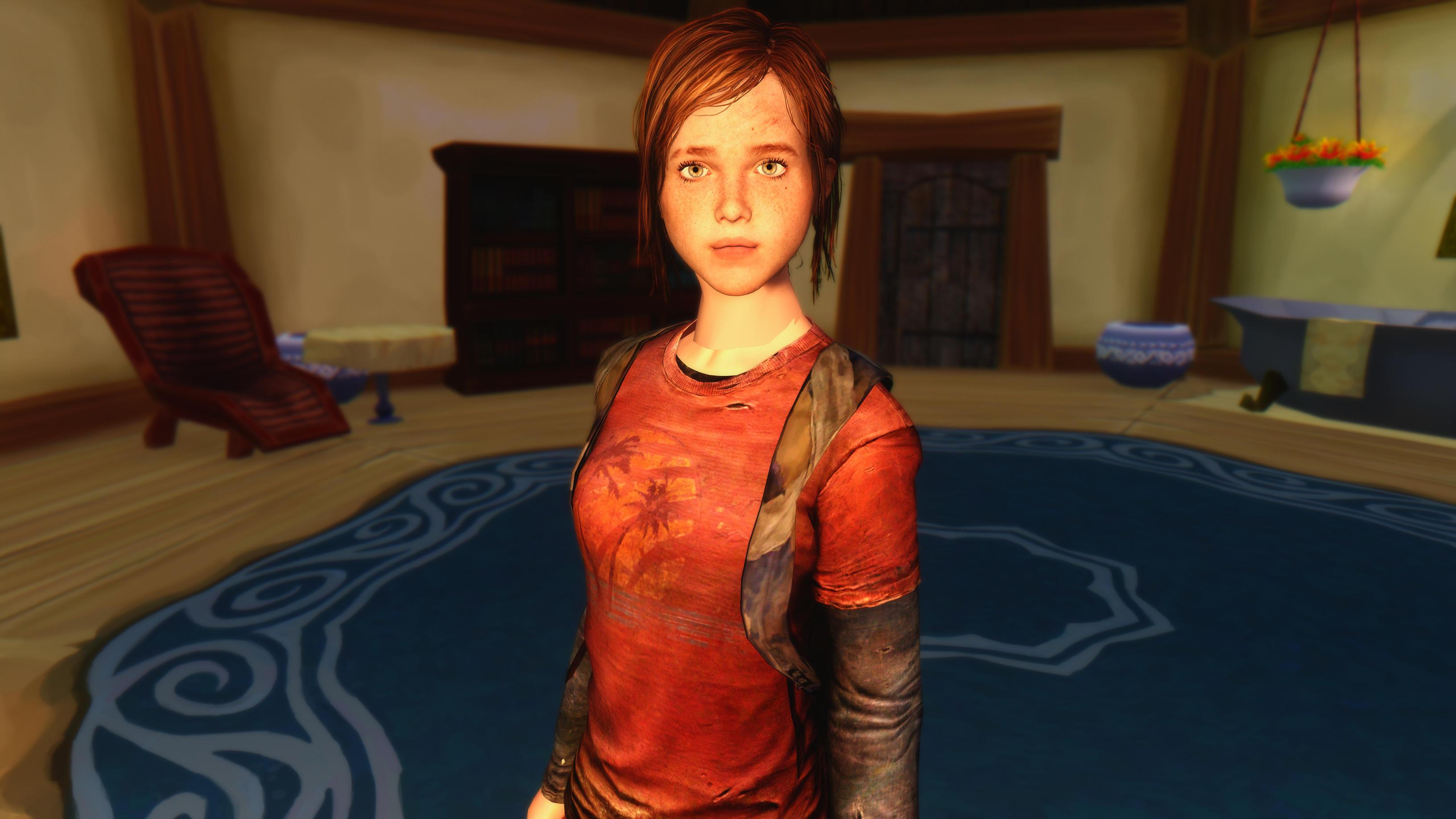 The Last of Us Ellie In skyrim by user619