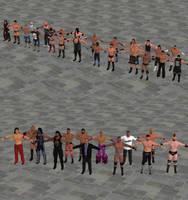WWE 2K17 Pc Version Male Superstars Models by user619