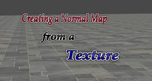 Creating a Normal Map from a Texture Tutorial by user619