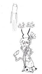 Disgaea inspired doodle WIP by voodoospunk
