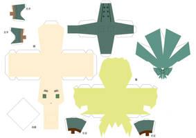Hetalia Papercraft - RPG Iggy by Dj-Mewmew