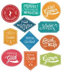 Geek Badges by fantasy-alive
