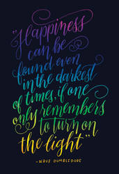 Harry Potter Calligraphy Quote by fantasy-alive