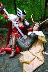 Sif versus Loki -Marvel's Thor by yayacosplay