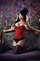 Red Corset - Lingerie Shoot with Jay Tablante by yayacosplay