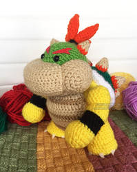Yoshi's Woolly World: Baby Bowser by lithharbor