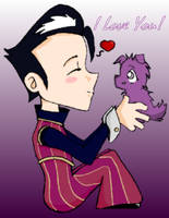 I Love My Purple Ball of Fluff by SugarBeatAngel
