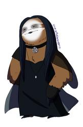 Goth Sloth - Musical Sloths by IllustratedJai