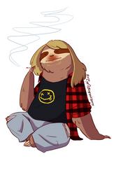 Grunge Sloth - Musical Sloths by IllustratedJai