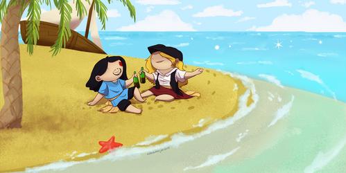 SLF Jevan and Anahira - Impact LARP Commision by IllustratedJai