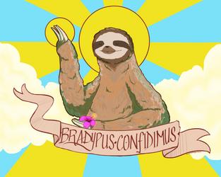 BRADYPUS CONFIDIMUS - Personal Work by IllustratedJai