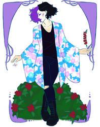 Art Nouveau Kimono - Personal Work (Gift for a Fri by IllustratedJai