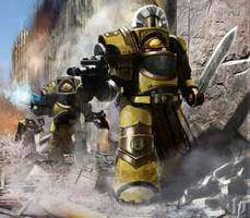 Pre Heresy Imperial Fists Terminators Squad by Ilqar