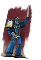 Pre Heresy Ultramarine speed paint. by Ilqar