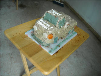 Pickup truck cake by amalthea