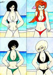 FF7 Girls: Welcome You To Costa del Sol by lordtrigonstar