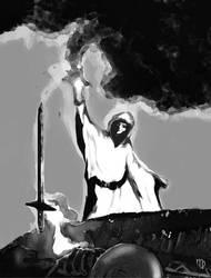 Sorcerer and Sword by greyorm