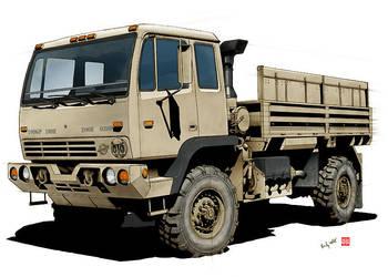 Military Cargo Truck OIF by randychen