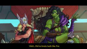 Mighty Thor Ragnarok-Planet she hulk by emperor-smash