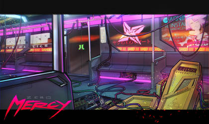 CYBERPUNK TRAIN CONCEPT ART :  ZERO MERCY by emperor-smash