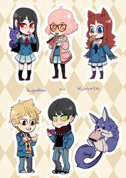 Kyoukai no Kanata Stickers by Shilloshilloh